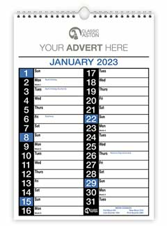 Business Calendar 150 from Aston with engagement date pad