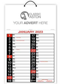 Business Calendar 166 from Aston with engagement date pad