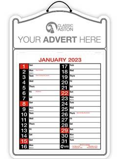 Business Calendar 182 from Aston with engagement date pad