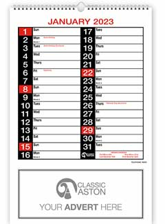 Business Calendar 183 from Aston with engagement date pad