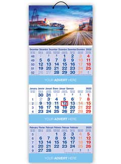 Cal 602 Tri-Monthly Shipping Calendar from Promocalendars